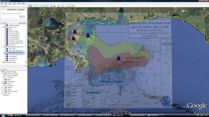 Gulf of Mexico oil spill Google Earth tour image