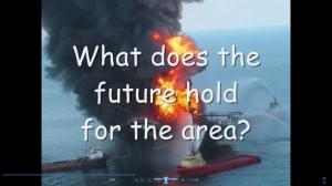 Gulf of Mexico oil spill movie image