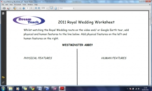 Royal Wedding Worksheet image