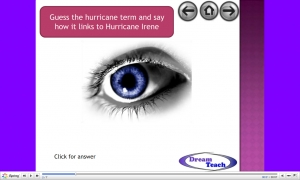 Hurricane Irene catchphrase and anagram starter image