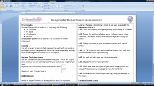 q) KS3 assessment guidelines for pupils- Word file image