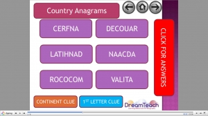 General starter- guess the country anagrams image