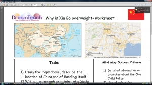 Population problems- China mystery worksheet