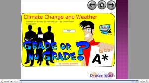 Climate change and weather grade or no grade game image