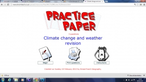 Climate change and weather exam questions image