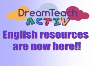 DreamTeach Activ English resources are here