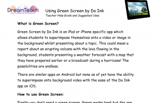 3) Green Screen User Guide image