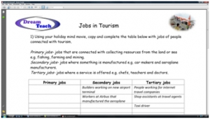 2a) Tourism, jobs and the economy- jobs worksheet image