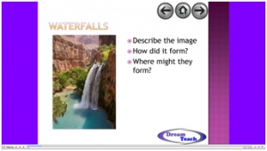 3e) River features- waterfalls image
