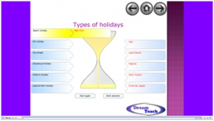 Types of holidays match up