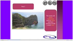 3b) Coastal landforms- caves, arches, stacks and stumps image