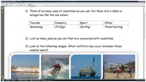 4b) Coastal uses- worksheet