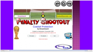 Coastal protection penalty shootout