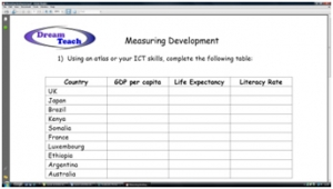 1c) An introduction to development- measuring development worksheet image