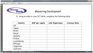 1c) An introduction to development- measuring development worksheet