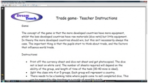 2d) Trade game- teacher instructions image
