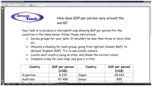 3b) How does GDP vary- standard worksheet image