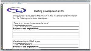 4b) Development myths- busting development myths worksheet image