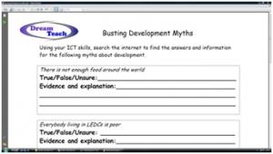 4b) Development myths- busting development myths worksheet
