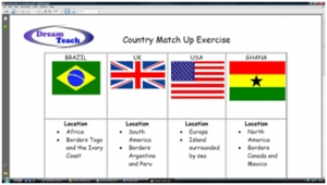 1c) An introduction to Brazil- country match up worksheet image