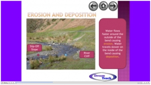 3a) River features- erosion and deposition on a river bend