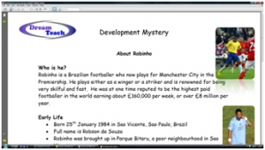 3b) Development mystery- background information sheet image