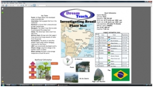 a) Brazil placemat image