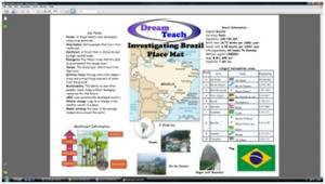 a) Brazil placemat