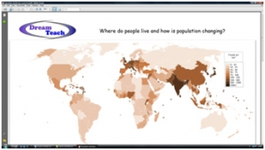 2b) Where do people live- worksheet image