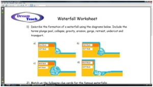 3f) River features- waterfalls worksheet