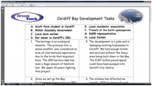 3) Land use- Cardiff Bay thinking skills task.  image