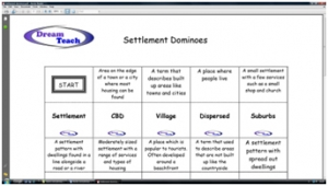 b) Settlement dominoes