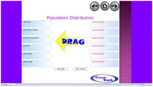 Population distribution match up