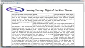 1a) River learning journey- script image