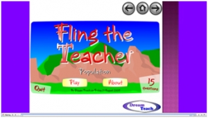 Population fling the teacher image