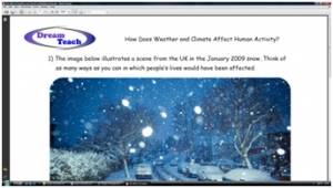 5b) The effect of weather and climate on human activity- worksheet image