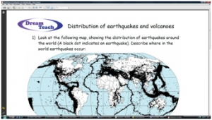 1c) An introduction to earthquakes and volcanoes- distribution worksheet  image