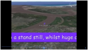 4a) Flooding compared- Mozambique floods movie image