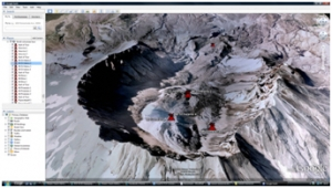 Volcanoes- world volcanoes Google Earth tour image