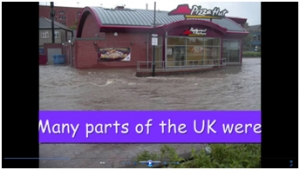 4b) Flooding compared- UK floods movie image