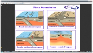 3a) Plate boundaries- memory map 1