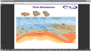3b) Plate boundaries- memory map 2
