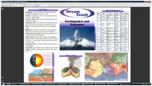 a) Earthquakes and volcanoes placemat