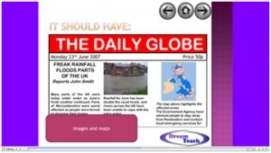 4d) Flooding compared- newspaper article guidance image
