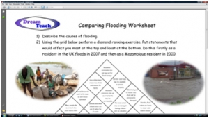 4e) Flooding compared- comparing flooding worksheet image