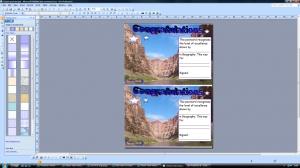 g) Editable postcard