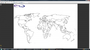 a) Blank world map (political)