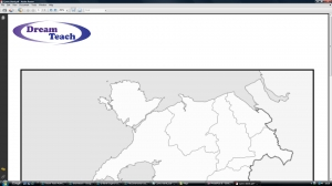 f) Blank Wales counties map