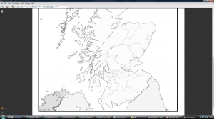 g) Blank Scottish unitary authorities map
