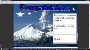h) Mt St Helens postcard